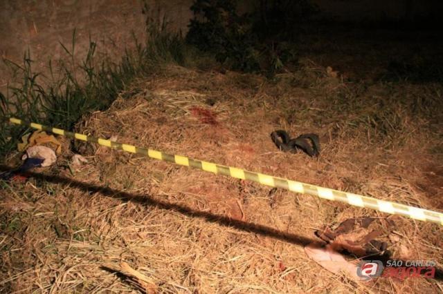 Local onde aconteceu o crime. (Fernando Martins/Araraquara.com) -