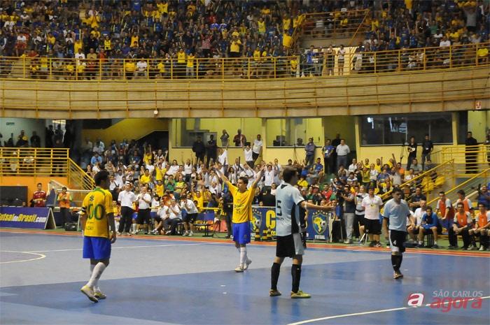 Seleção Brasileira goleou o time Uruguaio - foto: Luciano Bergamaschi/CBFS -