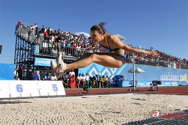 Maurren Maggi, competidora do Brasil no atletismo dos Jogos Pan-americanos de Guadalajara, no México  Crédito: Jefferson Bernardes/VIPCOMM -