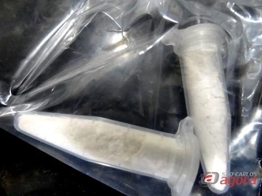 Cocaína apreendida pela PM (Fotos: araraquara.com) -