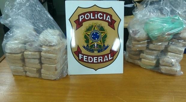 PF apreende 42,5 quilos de pasta base de cocaína (Foto:jornalacidade.com.br) -