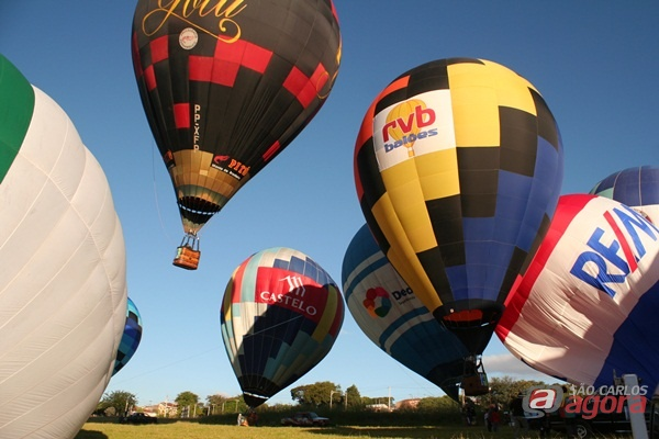 Segunda etapa do Campeonato de Balonismo ocorreu na tarde desta quarta-feira. (Fotos: Tiago da Mata / SCA) -