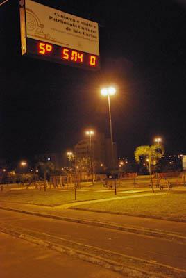 Termômetro do Parque do Kartódromo registrou 5°C. (Foto: Vinicius Neo / SCA) -
