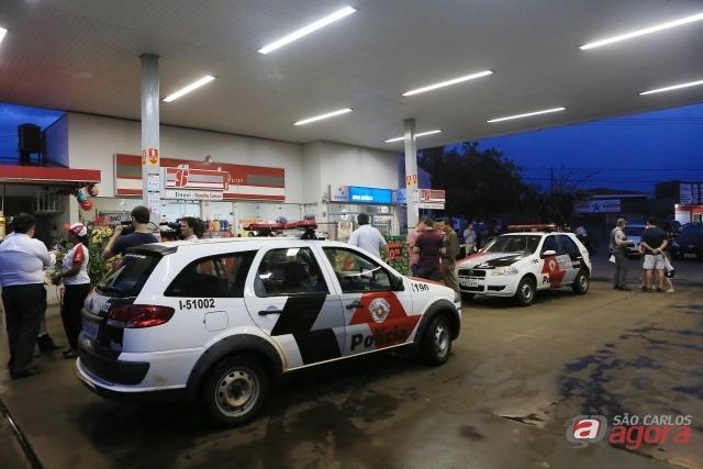 Posto de gasolina onde o PM foi baleado (Jornal A Cidade). -