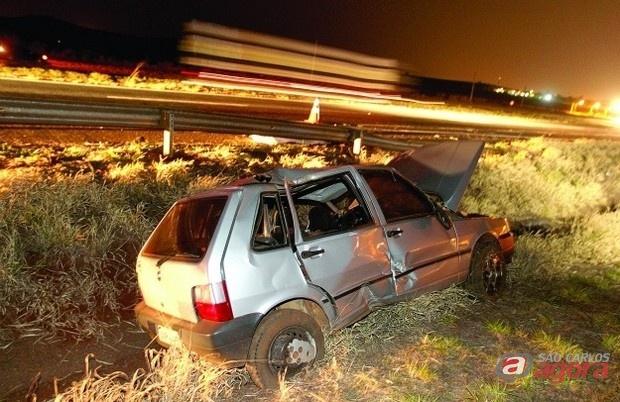 Mulher morre e seis ficam feridos em acidente na SP-333 em Ribeirão Preto (Foto;jornalacidade.com.br) -