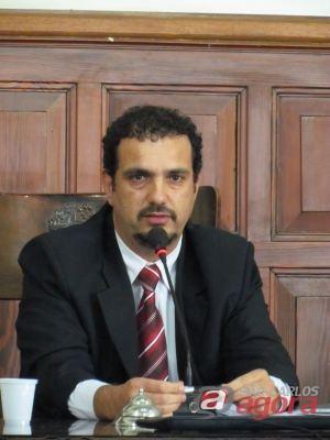 Vereador Júlio César, possível secretário de Planejamento e Gestão no governo de Paulo Altomani. (Foto: Tiago da Mata / SCA). -