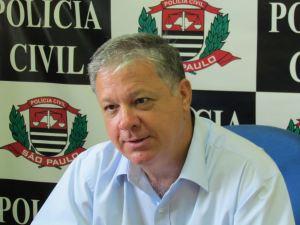 Edmundo Ferreira Gomes, delegado titular da DIG São Carlos. (Foto: Tiago da Mata / SCA). -