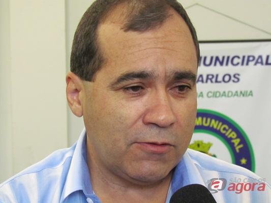 Major Jorge Luís Negreto, comandante da GM São Carlos. (Foto: Tiago da Mata / SCA) -