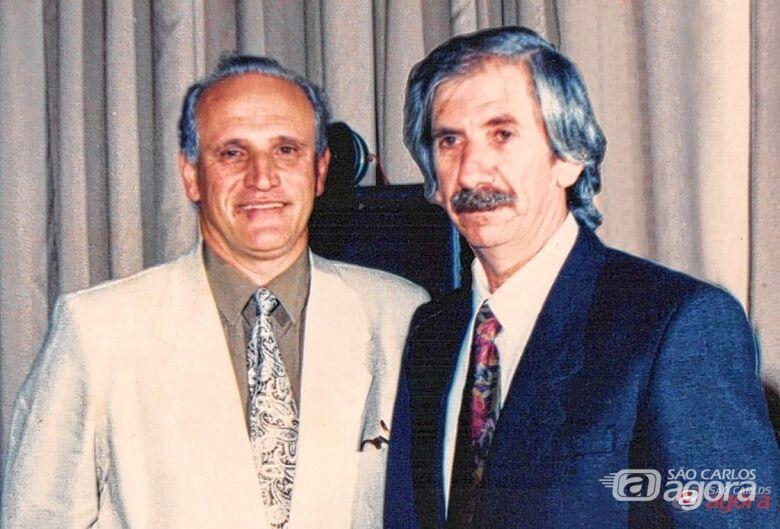 Braga (esquerda) ao lado de Oswaldo Aparecido Ienco, fundadores da Unicep. Blog O diário -