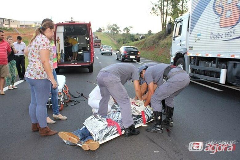 Leandro chegou a ser socorrido com vida, mas morreu no hospital. Foto Maycon Maximino -