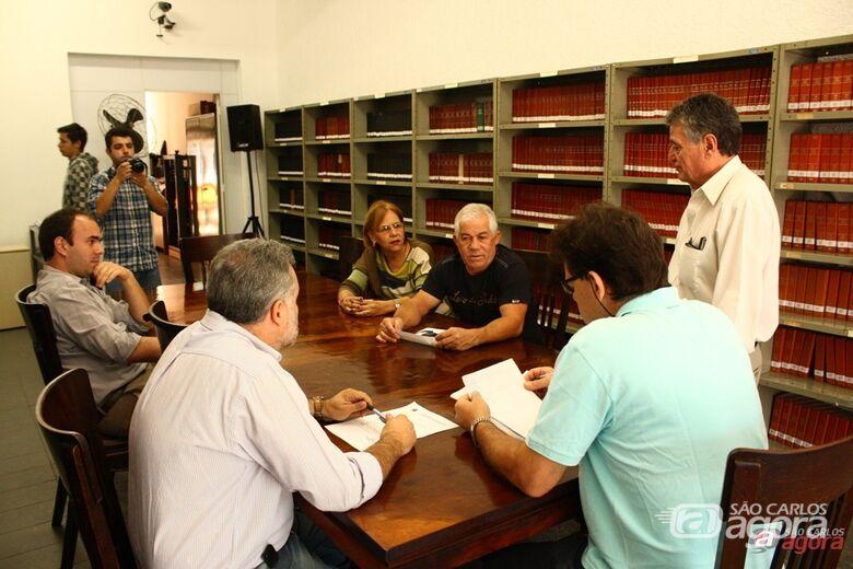 Reunião da CPI no dia 5 com Freire e Fermiano, vereadores que deixaram a comissão. -