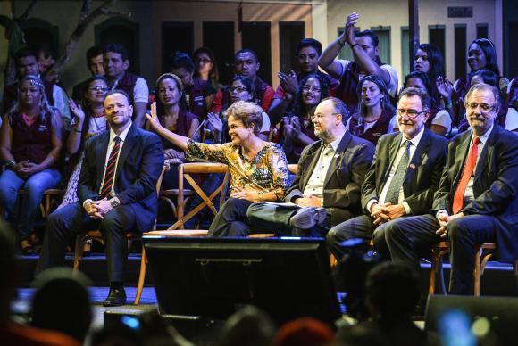 Em discurso no 3º Festival da Juventude Rural, Dilma defendeu o aumento da pena para o adulto que usar o jovem como escudo em uma organização criminosaValter Campanato/Agência Brasi -