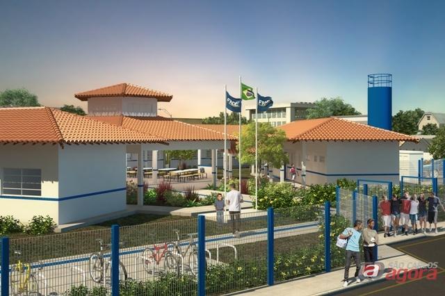 Foto: Modelo de escola pelo FNDE (Fundo Nacional de Desenvolvimento da Educação) -