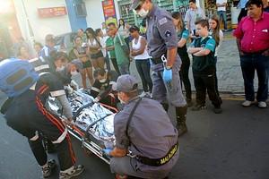 Idosa não resistiu aos ferimentos (foto Maycon Maximino) -