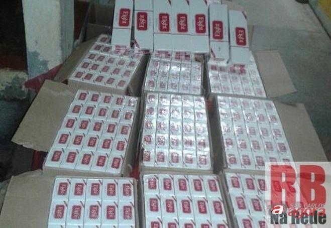 Cigarros foram levado até a Delegacia de Polícia (Foto: RB Na Rede) -