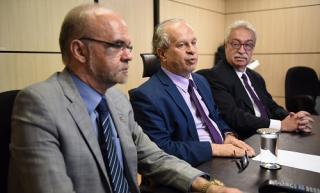 Luiz Claudio Costa, Renato Janine Ribeiro e Newton Lima. Foto: João Neto MEC -