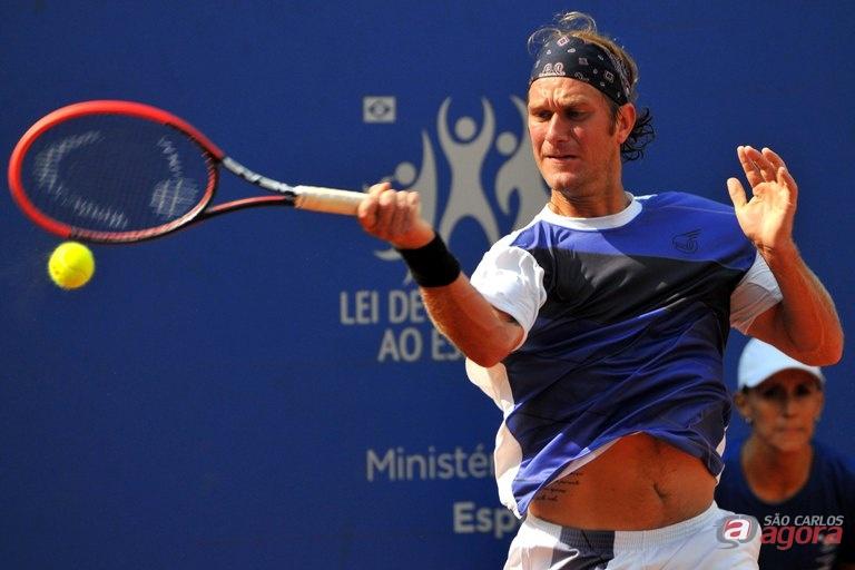 Caio Zampieri, segundo favorito e atual 335º da ATP, derrotou nesta sexta-feira Alexandre Tsuchiya. Foto: João Pires/Fotojump -