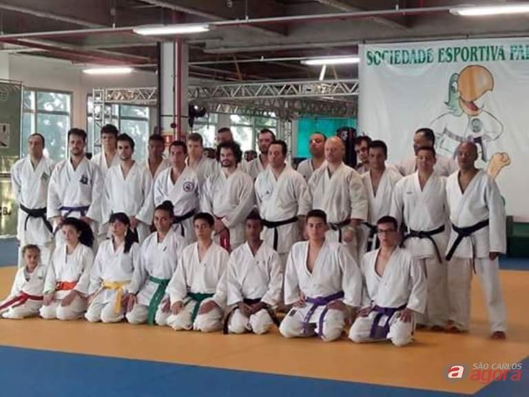 Equipe são-carlense durante as atividades em São Paulo. Preparação para os Regionais. Foto: Divulgação -