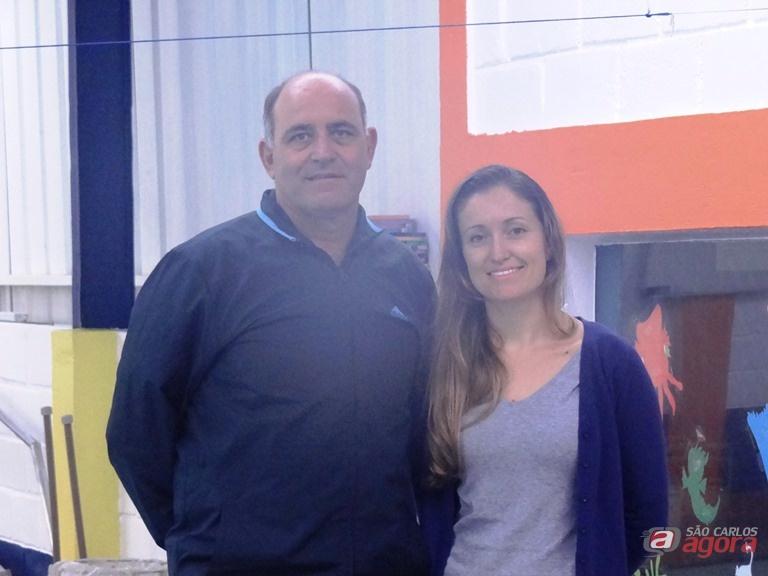 Mitcho com Ângela: trabalho conjunto em prol da natação PCD Marcos Escrivani -