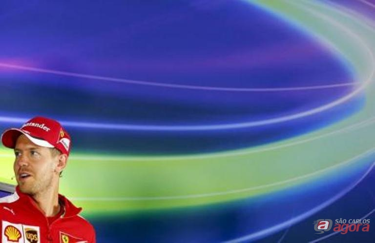 Piloto da Ferrari Sebastian Vettel durante entrevista coletiva no GP da Áustria. Foto: Reuters/Laszlo Balogh -