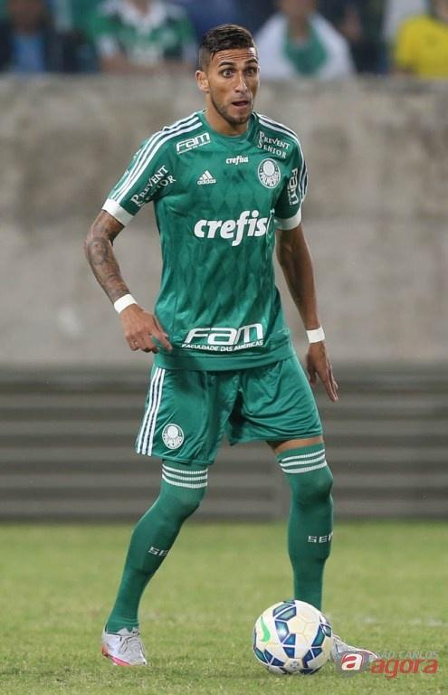 Rafael Marques marcou o primeiro gol da vitória palmeirense. Foto: Cesar Greco/Agência Palmeiras/Divulgação -