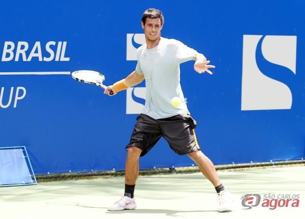 Em busca de uma vaga nas quartas de final, ele enfrenta o cabeça de chave 6 e 596º da ATP, Juan Sebastian Gomez. Foto: Wander Roberto -
