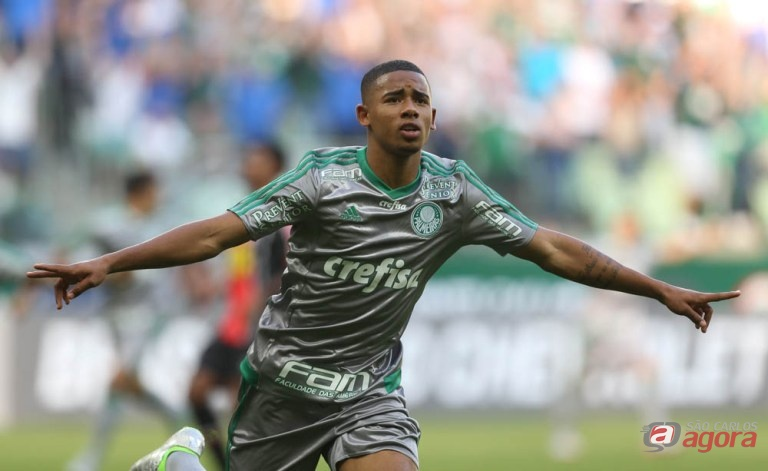 Palmeiras não foi brilhante, mas Gabriel Jesus se firma na equipe titular. Foto: Cesar Greco/Agência Palmeiras/Divulgação -