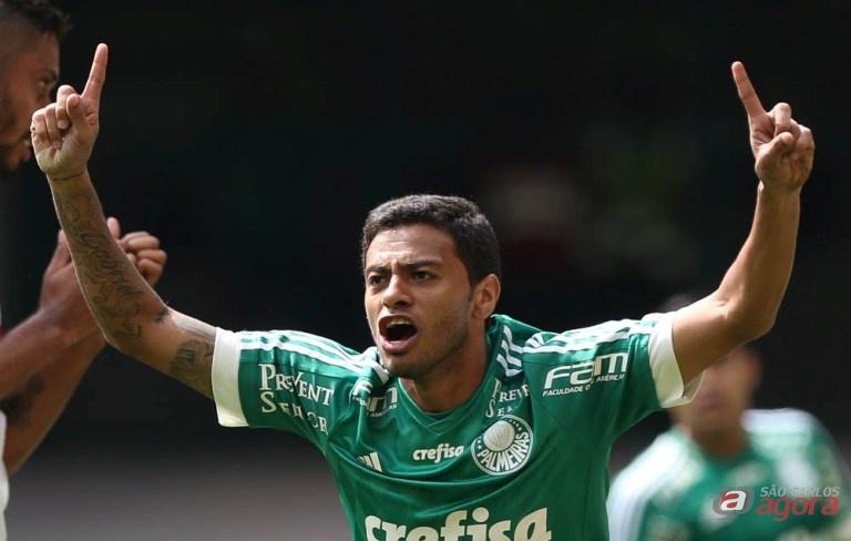 Cleiton Xavier fez o primeiro gol do Palmeiras na vitória em cima do Cruzeiro. Foto: Cesar Greco/Agência Palmeiras/Divulgação -