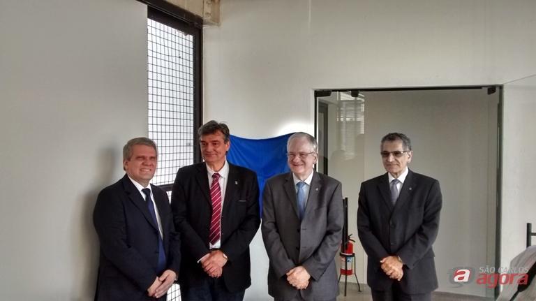Momento da sessão solene realizada no auditório Paulo de Camargo e Almeida. Foto: Alexandre Milanetti -