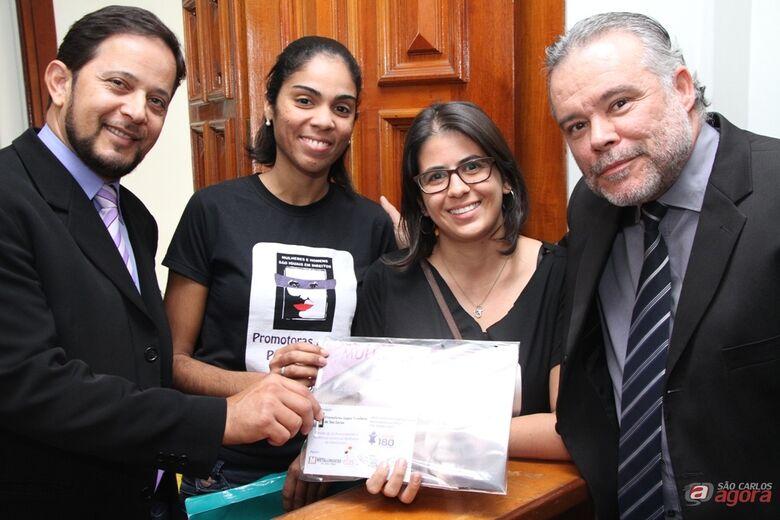 Ronaldo Lopes, Ana Carolina, Raquel Auxiliadora e Lineu Navarro. (Assessoria de Imprensa CMSC / Thiago Jacot) -