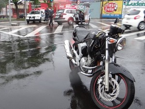 Acidente ocorreu no bairro Boa Vista. (foto Luciano Lopes) -
