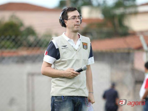 """Rafael: """"Desejo muita força, muita garra, muita fé, muito trabalho e muito entusiasmo a todos do São Carlos FC"""". Foto: Divulgação -"""