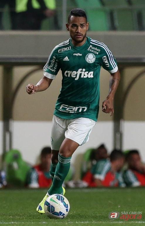 Jackson fez o primeiro gol palmeirense na vitória diante do Figueira. Foto: Cesar Greco/Agência Palmeiras/Divulgação -
