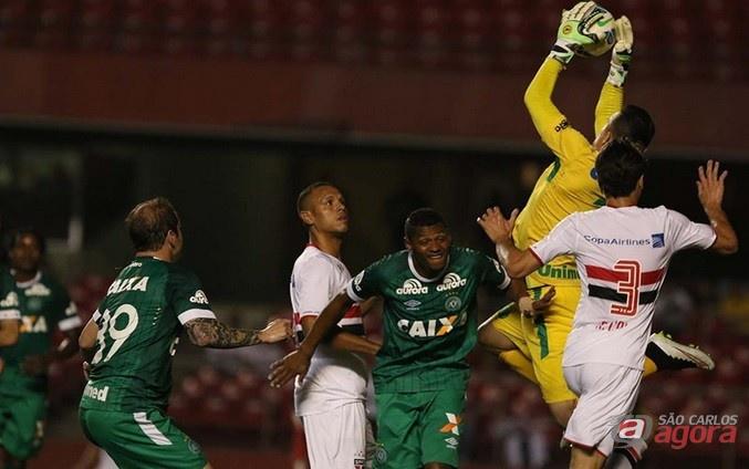 O Tricolor teve boas chances de gol, mas ficou no 0 a 0. Foto: Rubens Chiri/saopaulofc.net -
