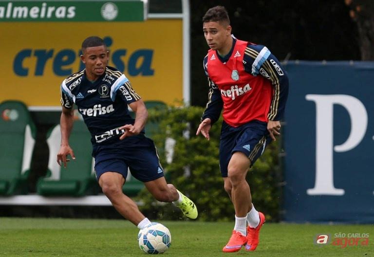 Após cumprir suspensão, Gabriel Jesus retorna ao ataque palmeirense. Foto: Cesar Greco/Agência Palmeiras/Divulgação -