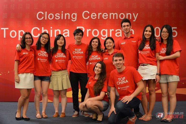 Os alunos do ICMC durante a estadia em Xangai. Foto: Divulgação -
