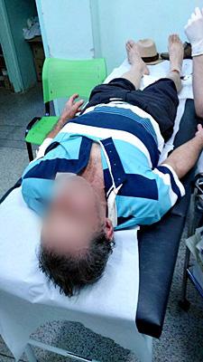 Idoso foi socorrido à UPA do Cidade Aracy. (foto Coladorador) -