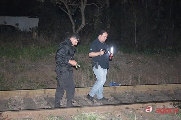 Corpo foi encontrado na linha férrea. -