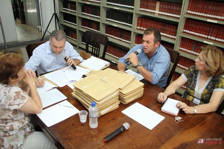 Laíde, Lineu e Cidinha ouvem depoimento de Jurandir Ferrante (Assessoria de Imprensa CMSC / Thiago Jacot) -