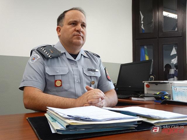 Tenente Coronel Wellington é o novo comandante da PM. (foto Milton Rogério) -