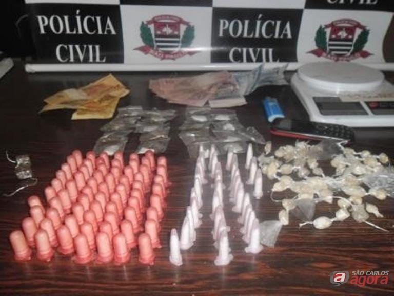 Menor iria comercializar uma grande quantidade de drogas. Fotos: Osni Martins -