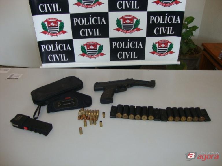 A arma estava em um pesque-pague localizado em Ibaté. Foto: Divulgação -