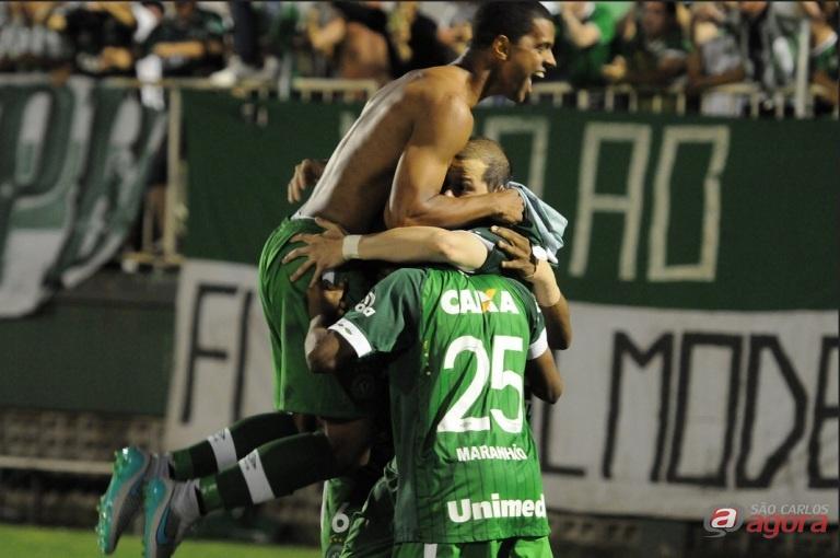 Jogadores da Chapecoense comemoram goleada em cima do Palmeiras. Foto: site oficial da Chapecoense -