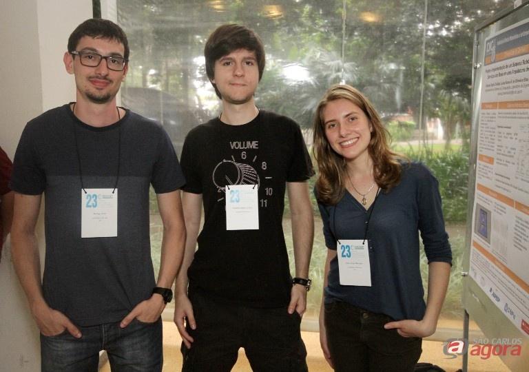Rodrigo, Eduardo e Elisa são autores de três dos projetos selecionados. Foto: Henrique Fontes -