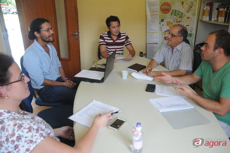 Reunião do Conselho Editorial da Rádio UFSCar. Foto: Enzo Kuratomi/CCS -
