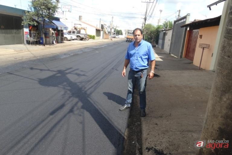 Sergio Rocha conquista recape de principais vias no Jardim Cruzeiro do Sul. Foto: assessoria do vereador -