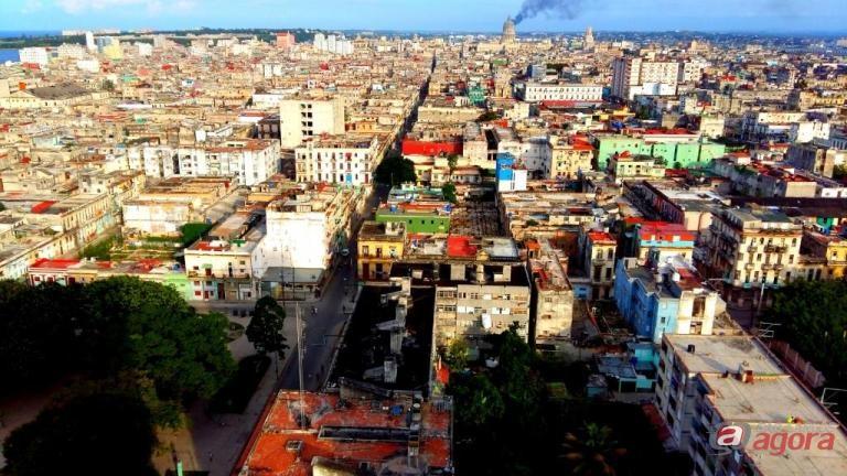 Bairro de Vedado, em Havana, vista do alto de um prédio. Foto: David C. Fugazza -