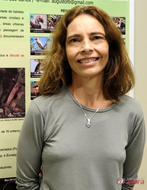 Liane Printes, chefe do Departamento de Apoio a Educação Ambiental da UFSCar. Foto: Letícia Longo -