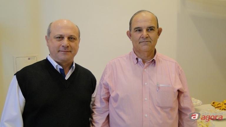 João Batista Pio e Silvio Casale receberão homenagens do município em solenidade na Câmara. Foto: Acisc -