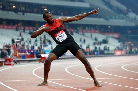 Velocista jamaicano Usain Bolt durante evento em Londres. Foto: Reuters/Eddie KeoghLivepic -